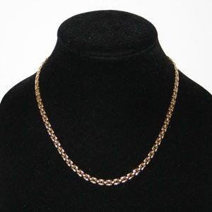 "Stunning vintage gold necklace 17.5"""